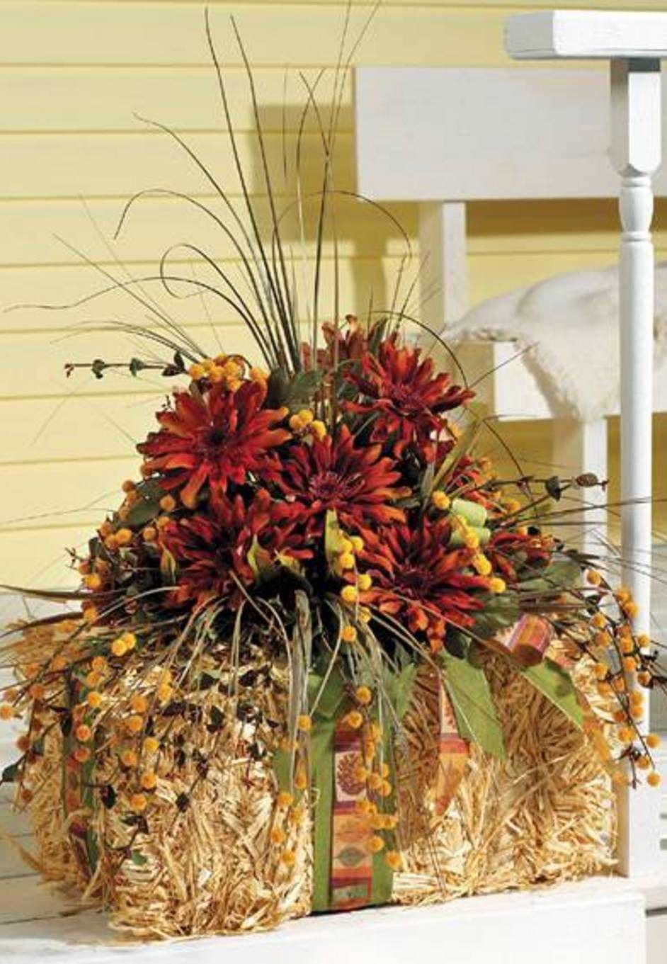 DIY Fall Floral Arrangement Spruce up your front porch