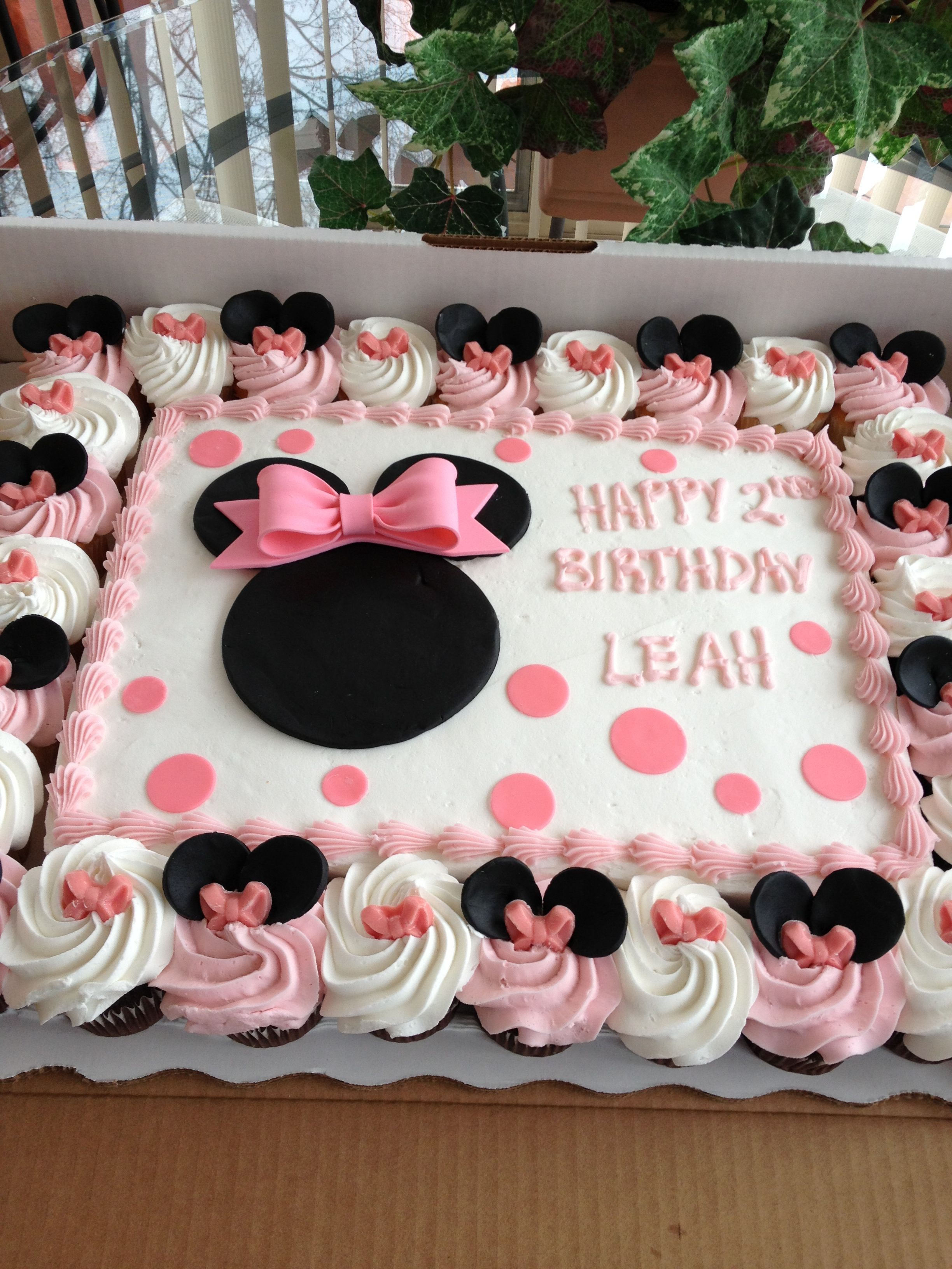 Minnie Mouse Cake After Not Wanting To Spend A Fortune