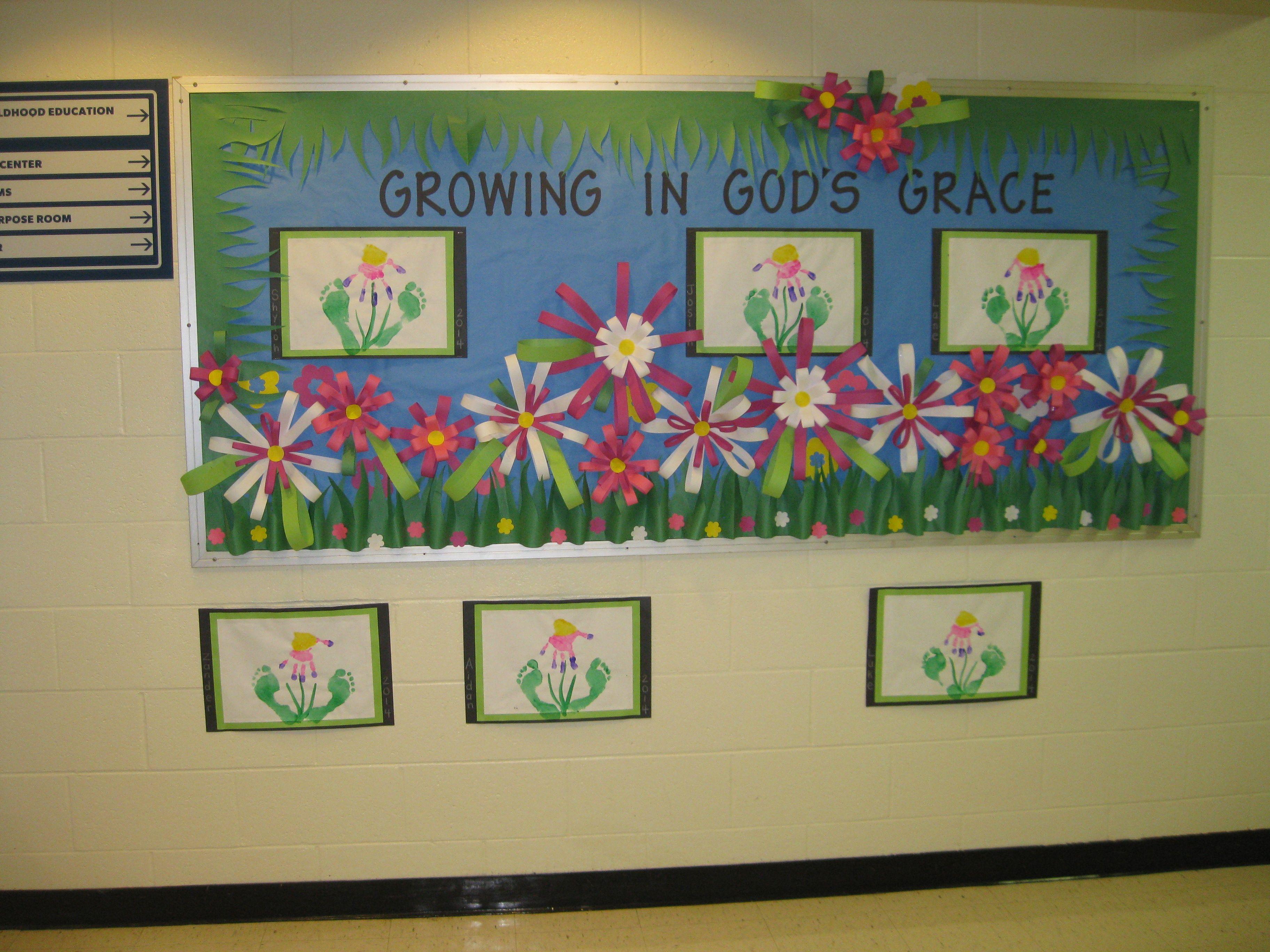 Christian Spring Bulletin Board Early Childhood Education