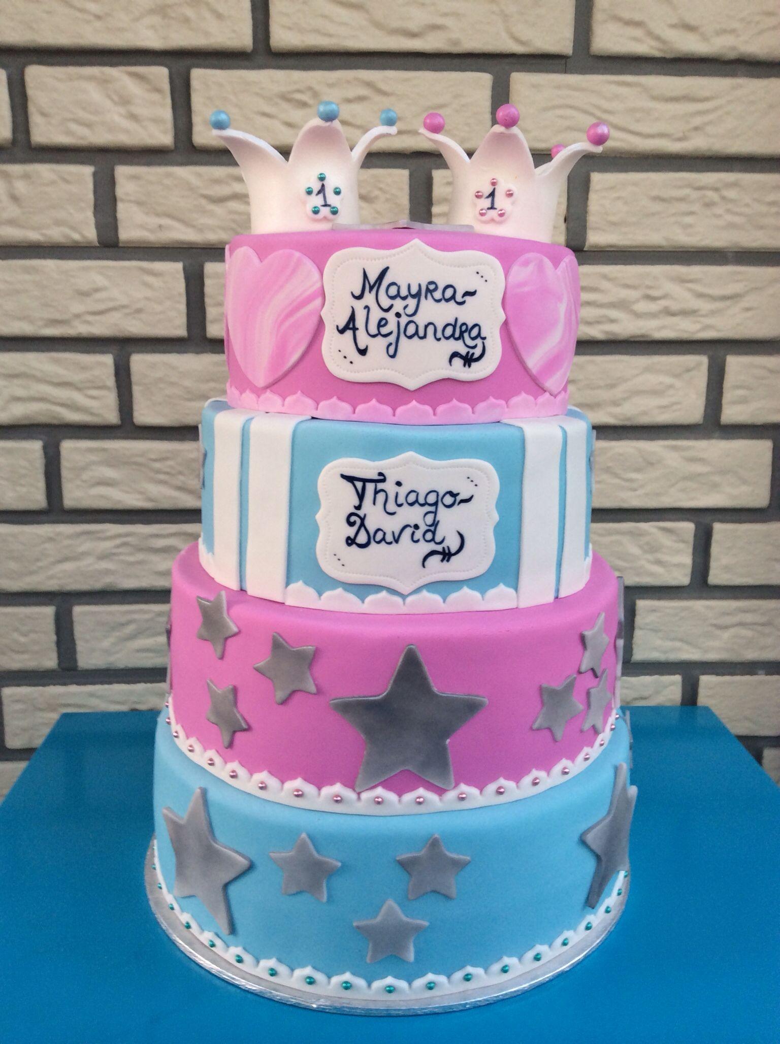 Birthday Cake Twins Boy And Girl