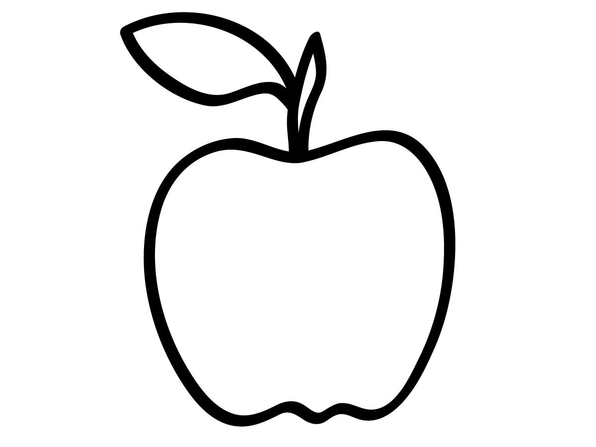 Apple Outline Free Pictures Images Apple Outline Download Free