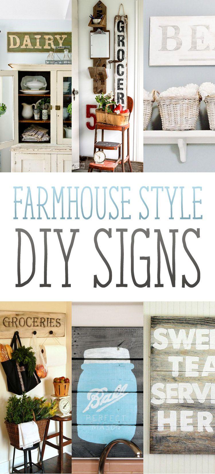 Farmhouse Style DIY Signs Farmhouse style, Personality