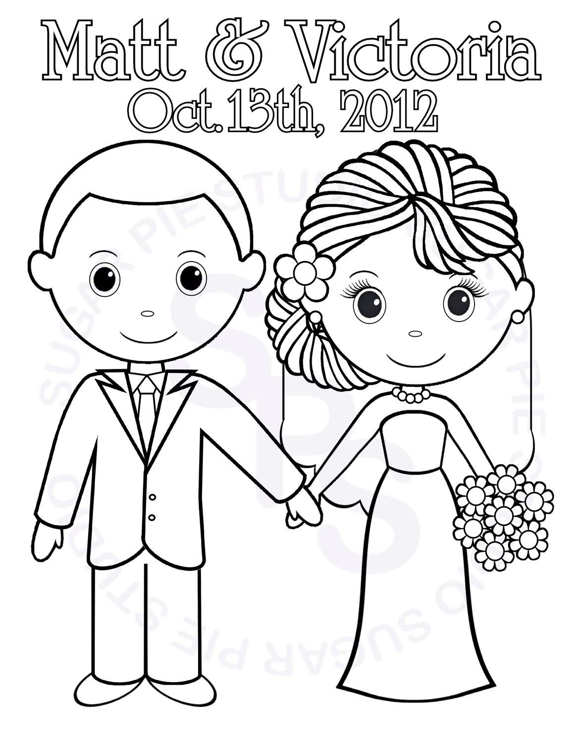 Wedding Coloring Pages For Kids Printable My Perfect