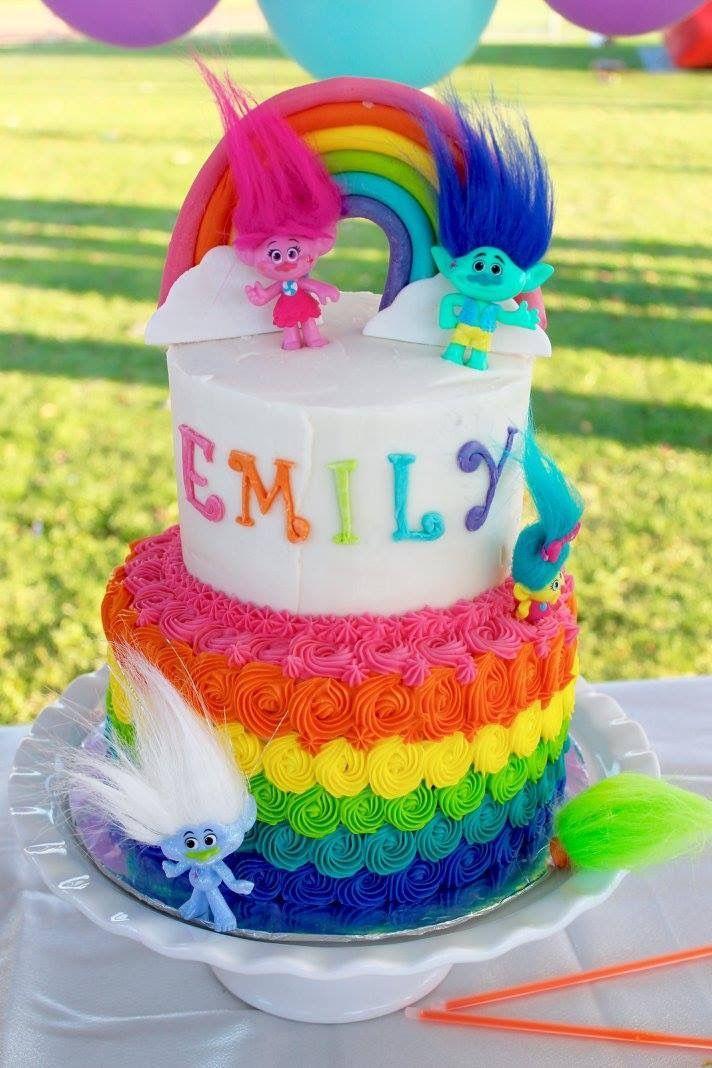 TROLLS CAKE & COOKIE IDEAS Cookie ideas, Birthday