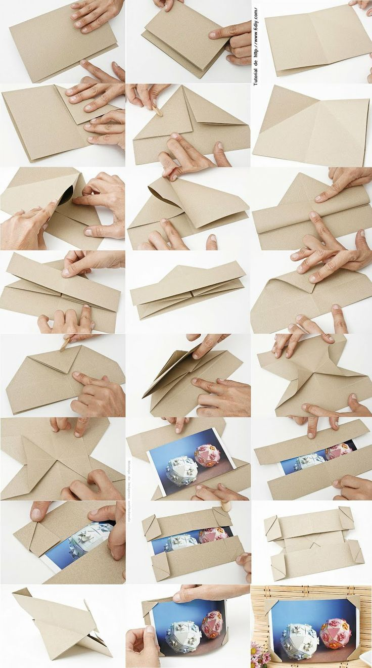 Contemporary Origami Picture Frame Motif - Picture Frame Ideas ...