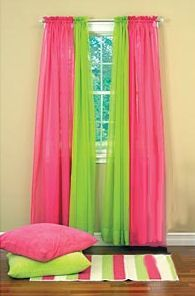 S Room Green And Pink Curtains