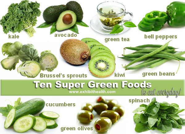 Ten Super Green Foods to Eat Every Day Green Foods that