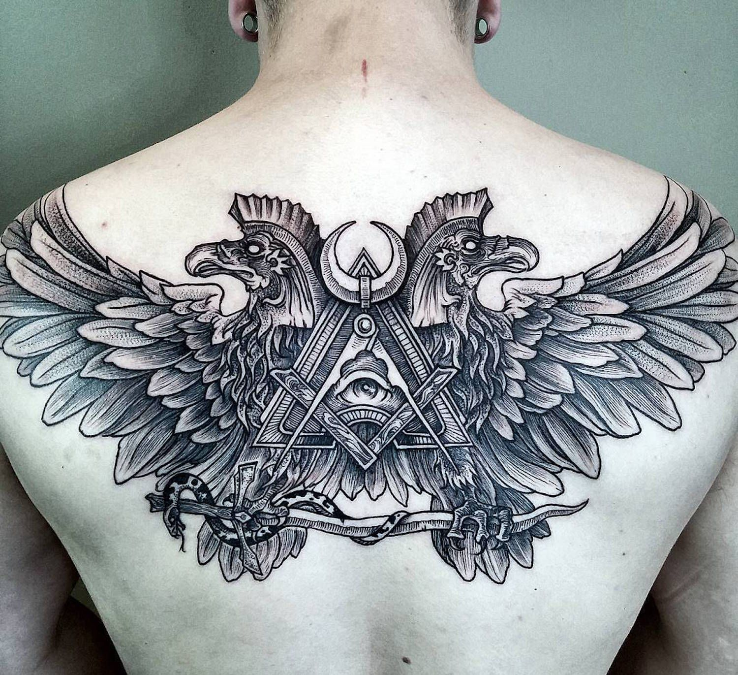 Back Tattoo Design Ideas For Men by Phil Tworavens Cool