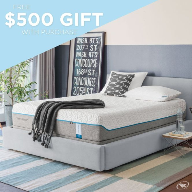 Sleep With Ease And Receive A Free 500 Gift When You Purchase Tempur Pedic