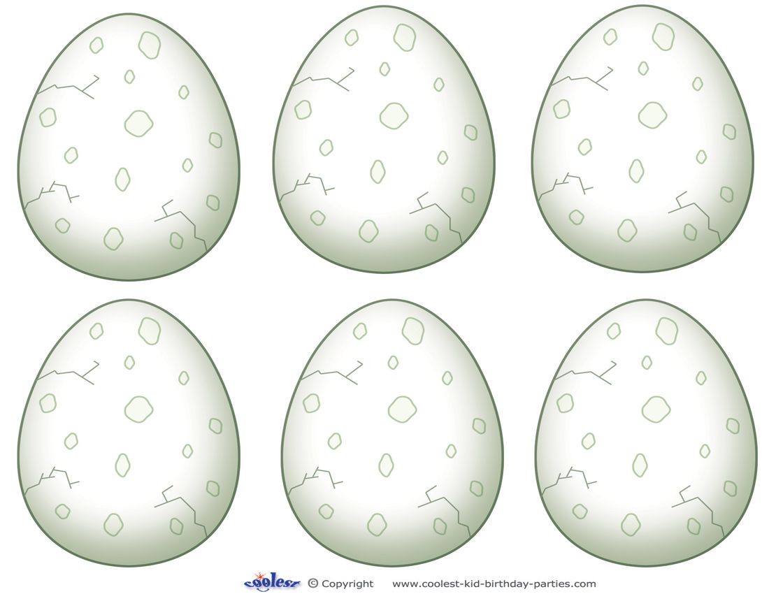 Blank Printable Dinosaur Egg Thank You Cards Coolest Free