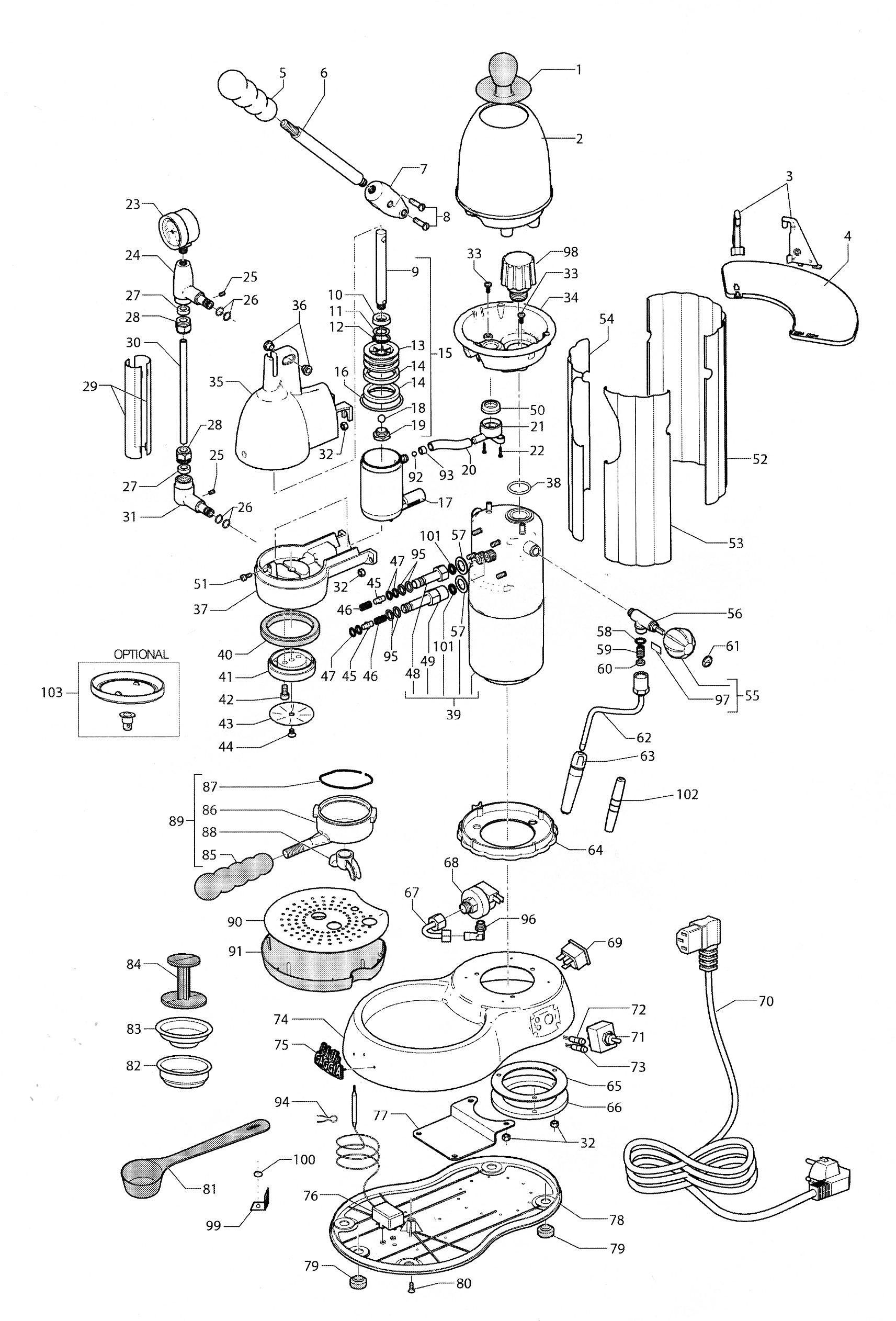 Gaggia Achille Espresso Machine Schematic Diagram Coffee