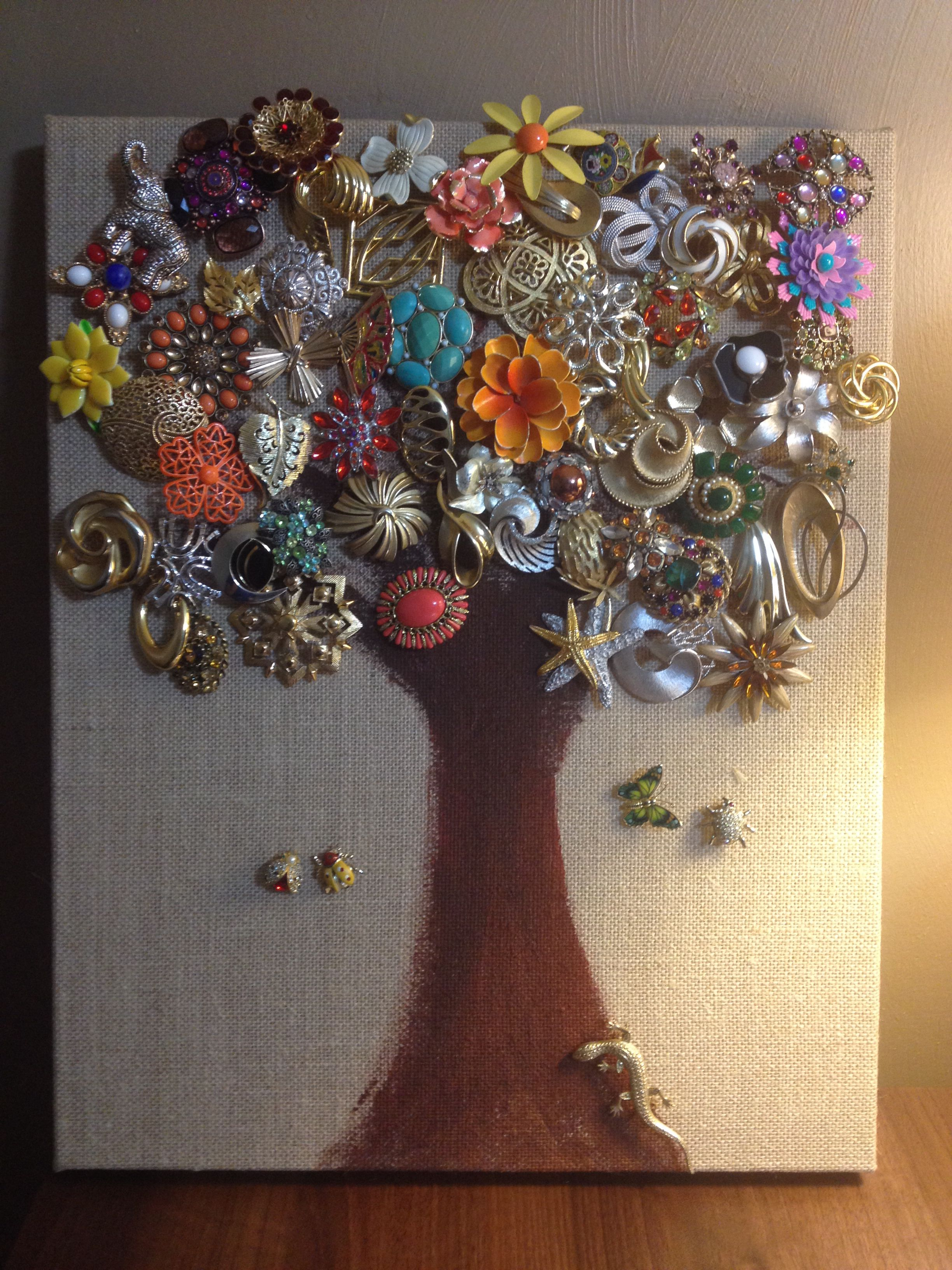 Brooch Tree I Finally Came Up With An Artistic Way To