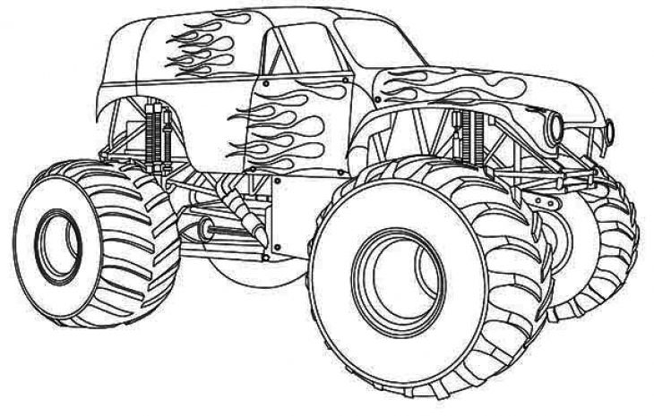 monster trucks coloring pages and coloring pages for kids on