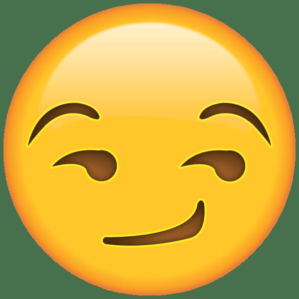 Smirk Face Emoji When you're smirking with mischief