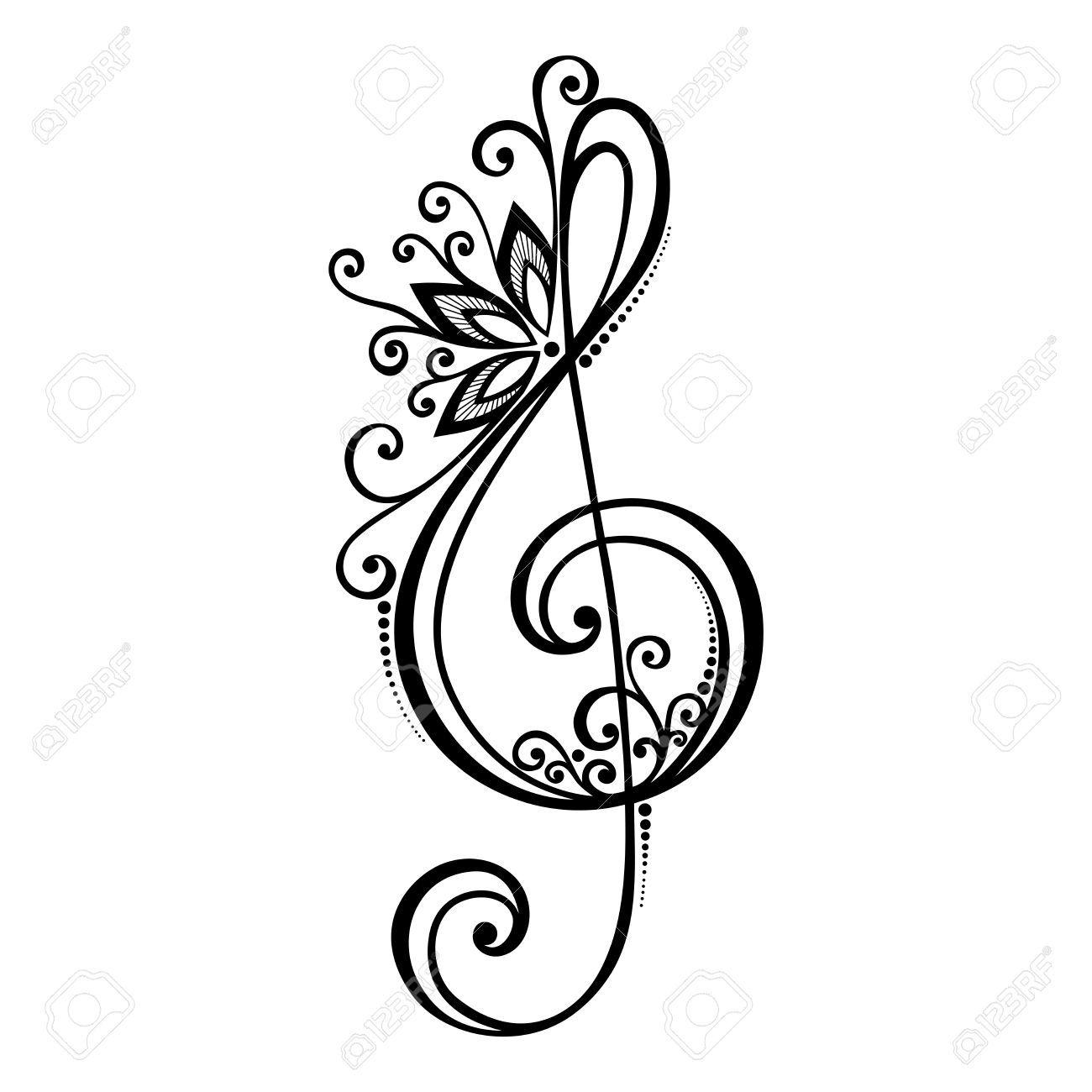 floral treble clef tattoos Google Search Tattoos