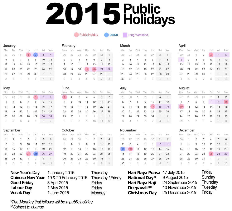 Chinese New Year Calendar Singapore