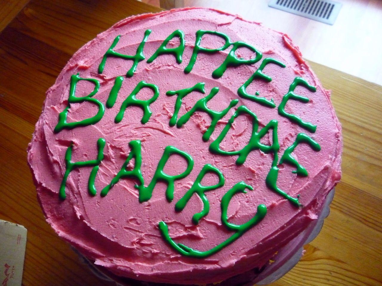 Harry Potter Inspired Hagrid's Birthday Cake Harry