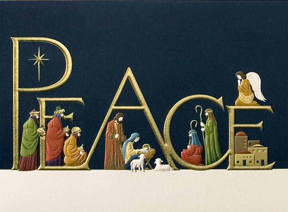 Here are the religious personalized christmas cards which