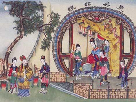 Peinture Sun Quan Cour pendant les 3 royaumes