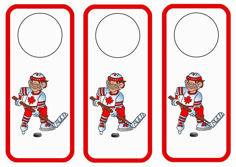 Hockey Themed Free Printable Door Hangers Themed Door Hangers
