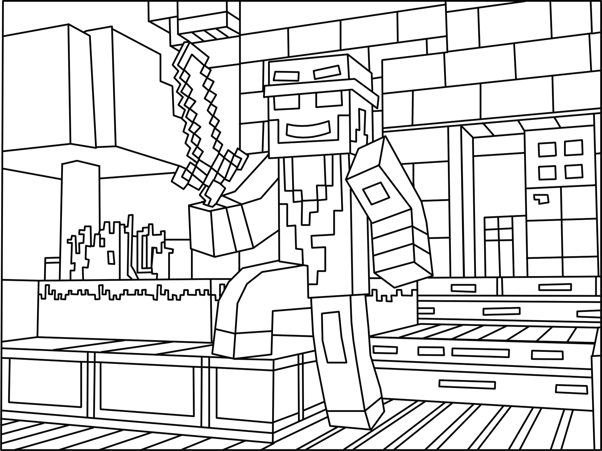 90 Pixel Art Coloring Page