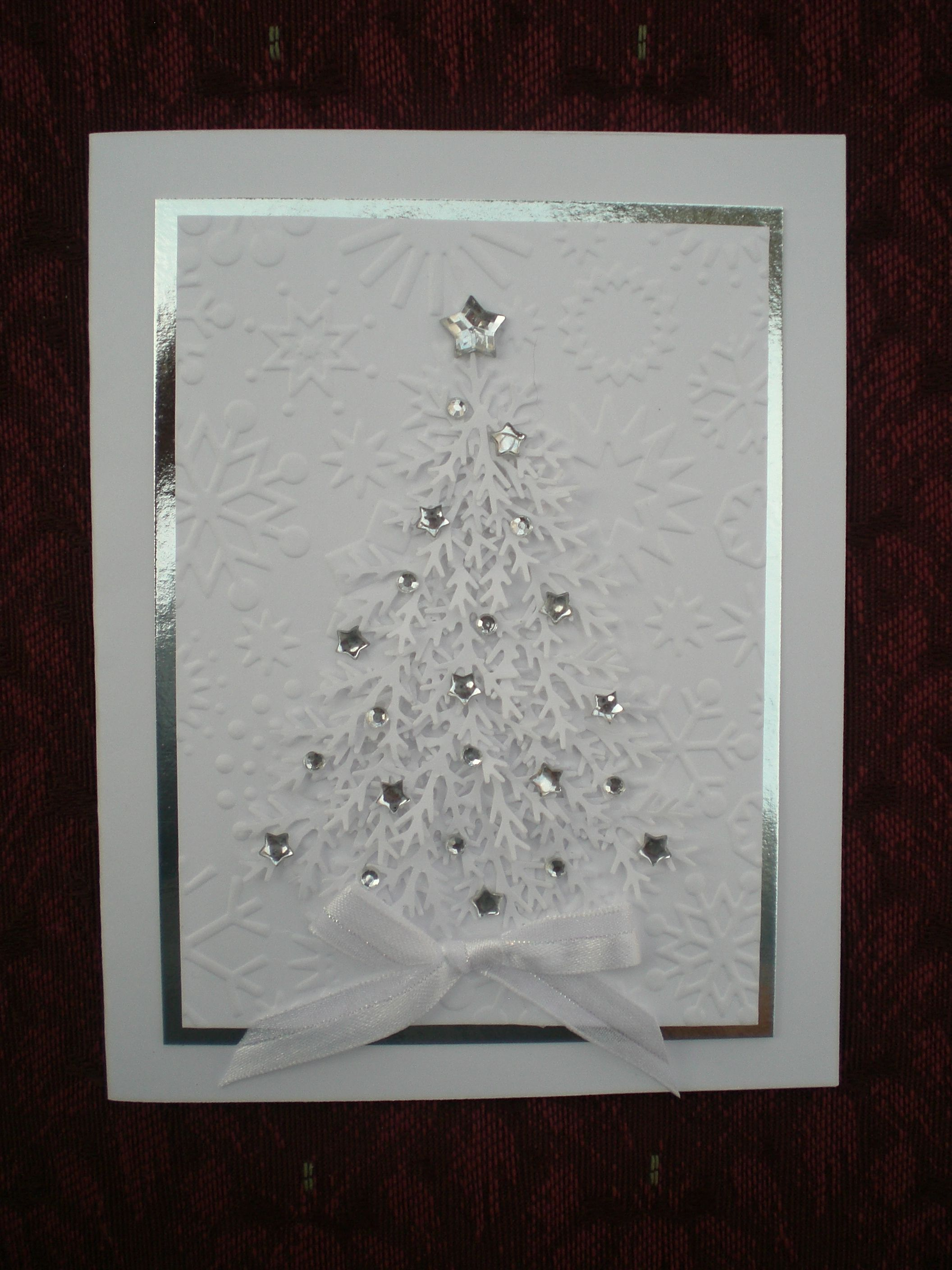 A white and silver Christmas card Just cards Pinterest