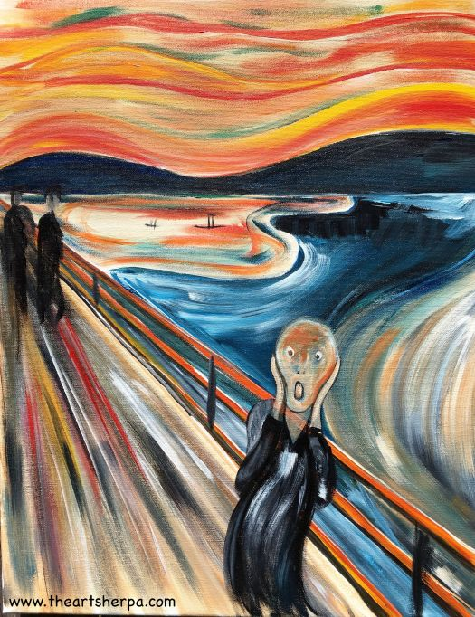The Scream Edvard Much Tutorial In Acrylic For Beginning Painters On You By Art Sherpa