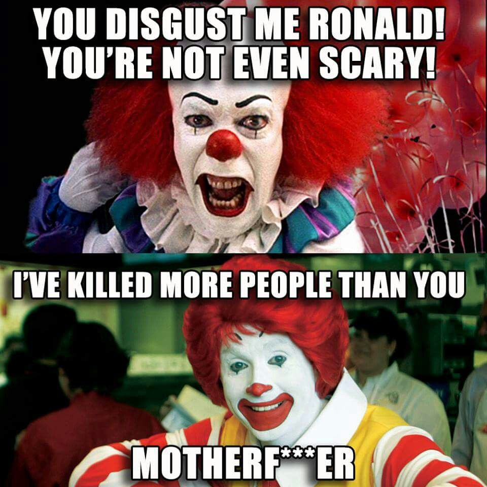 Penny Wise vs Ronald McDonald smile baby! Pinterest