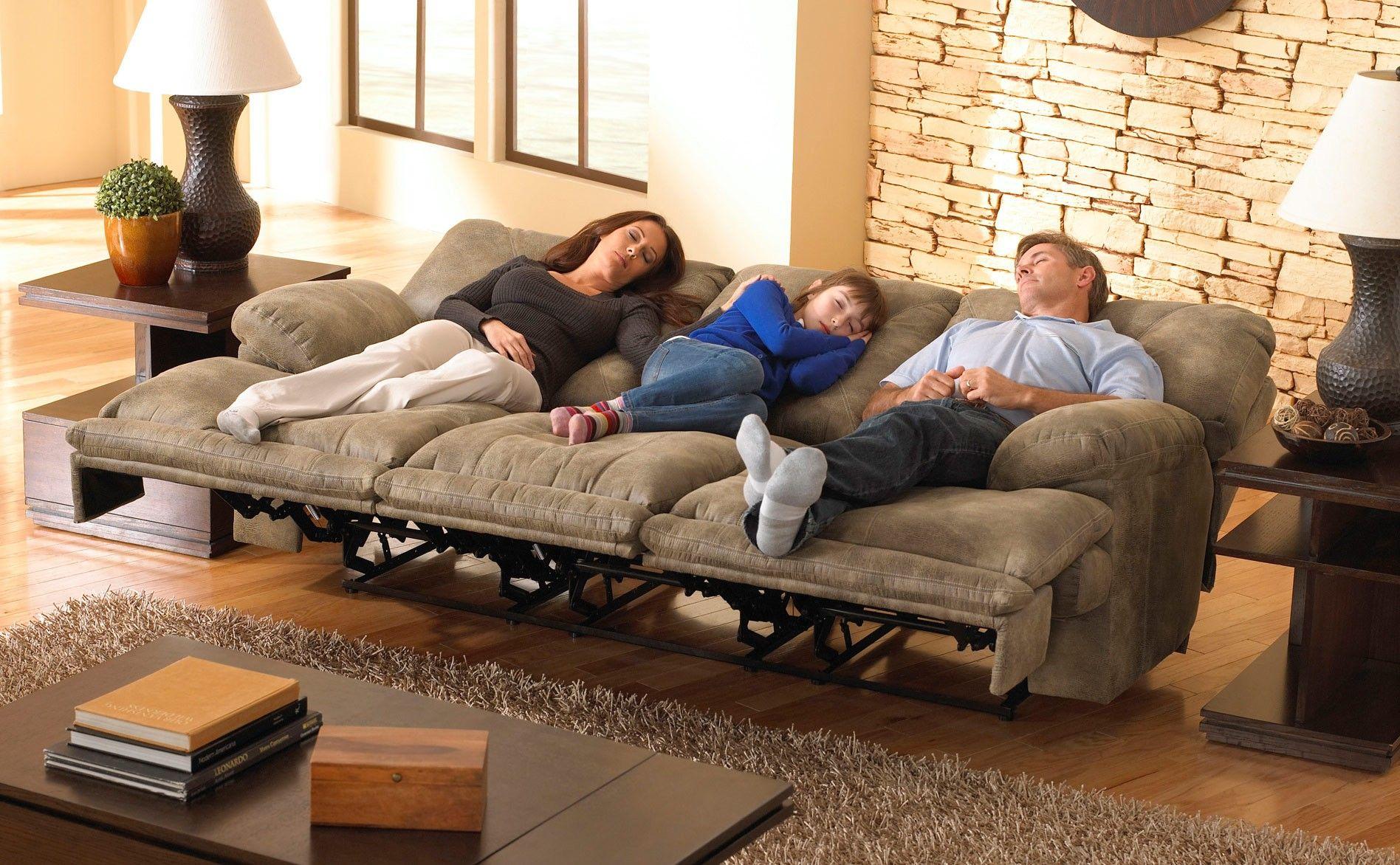 Montana LayFlat Triple Reclining Sofa w/ Drop Down Table