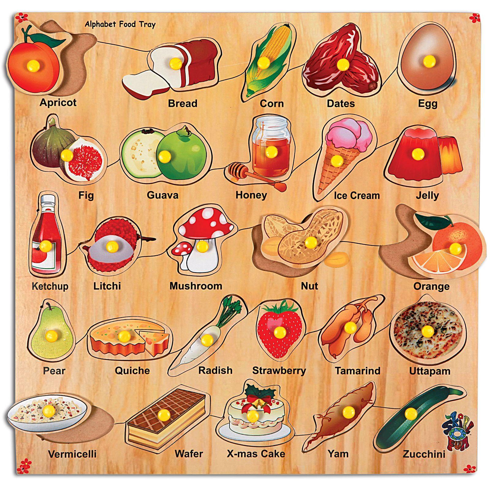 food alphabet board ABC Pinterest Food alphabet