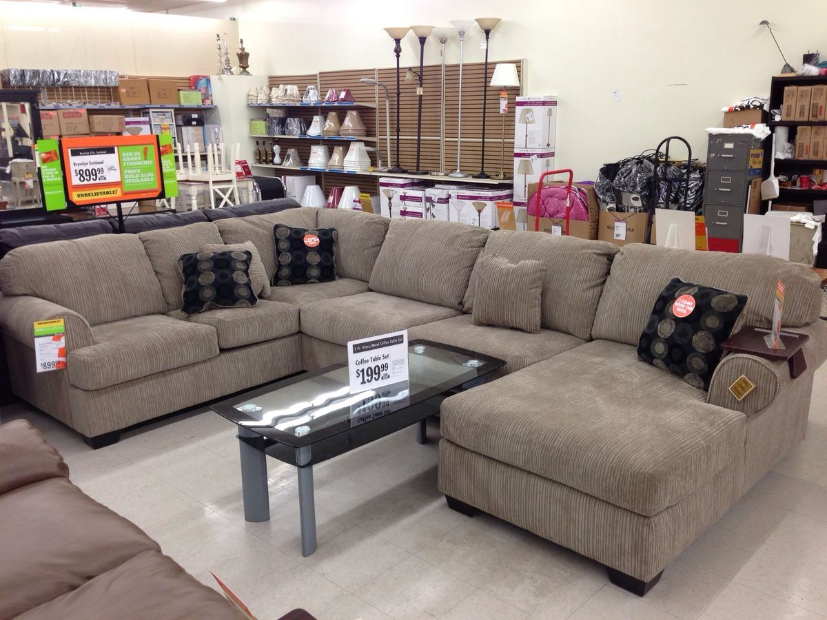 Big Lots Sectional. John and I actually both liked this