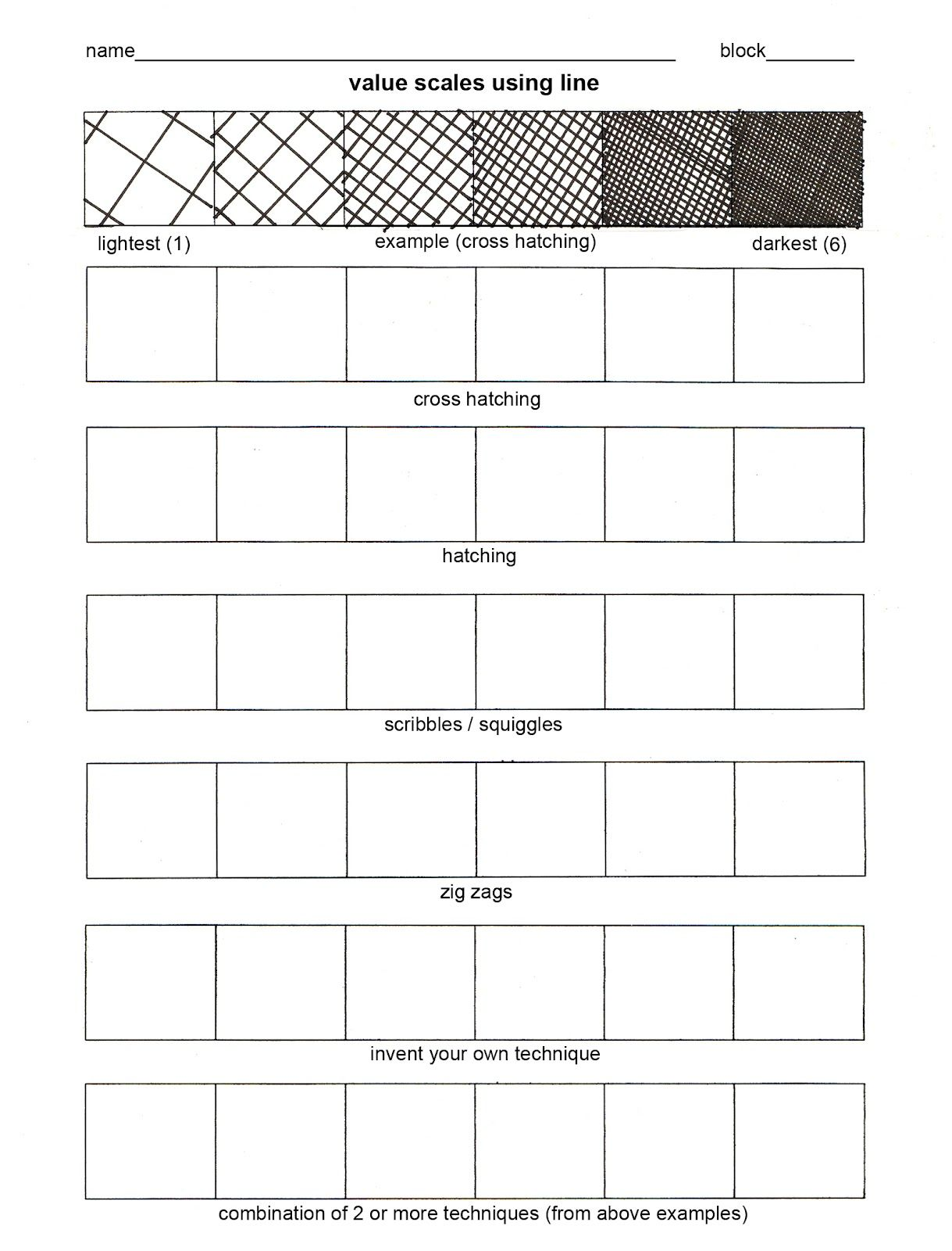 Value Worksheet 45rpmdesignsspot