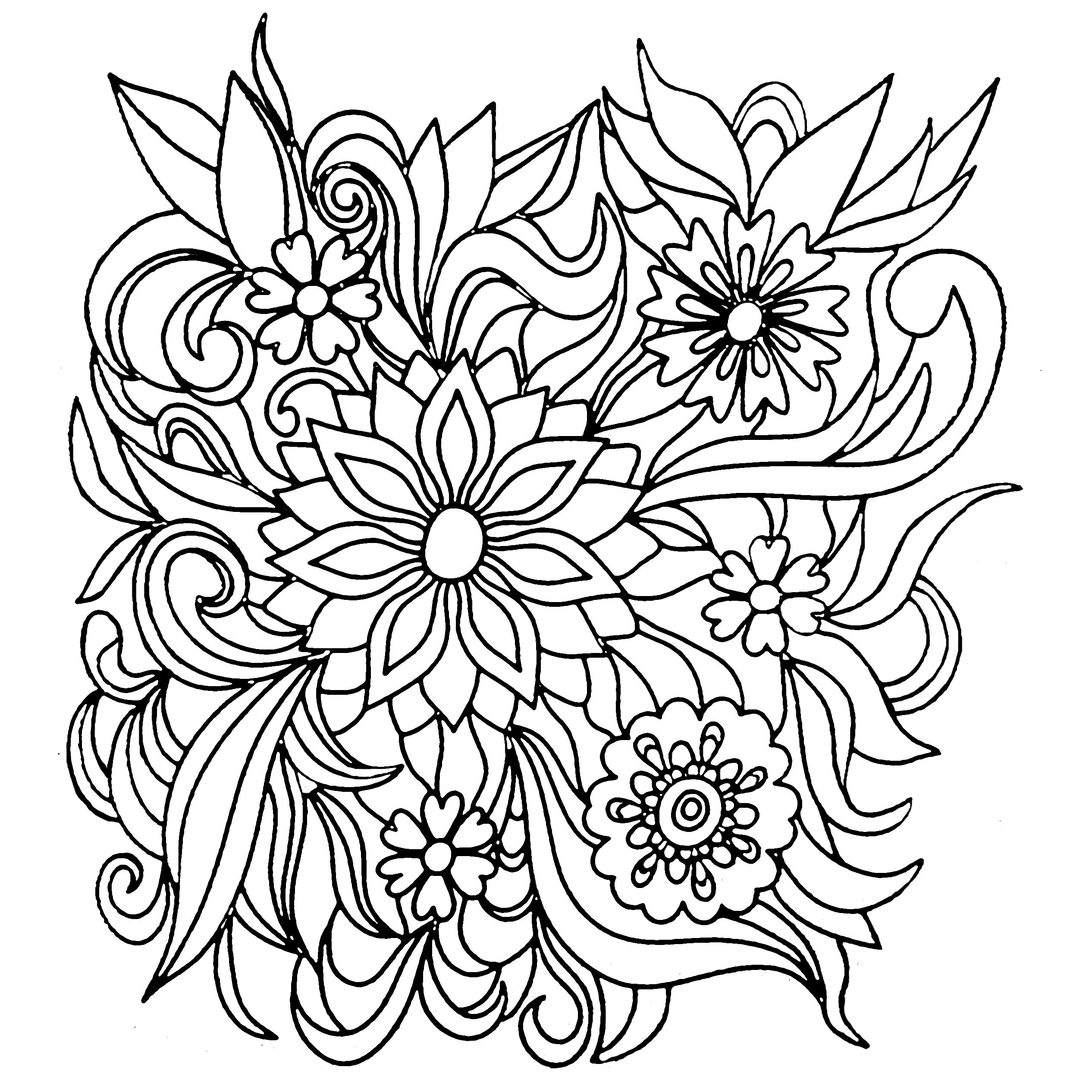 Colors of Nature Adult Colouring Book Flowers Coloring