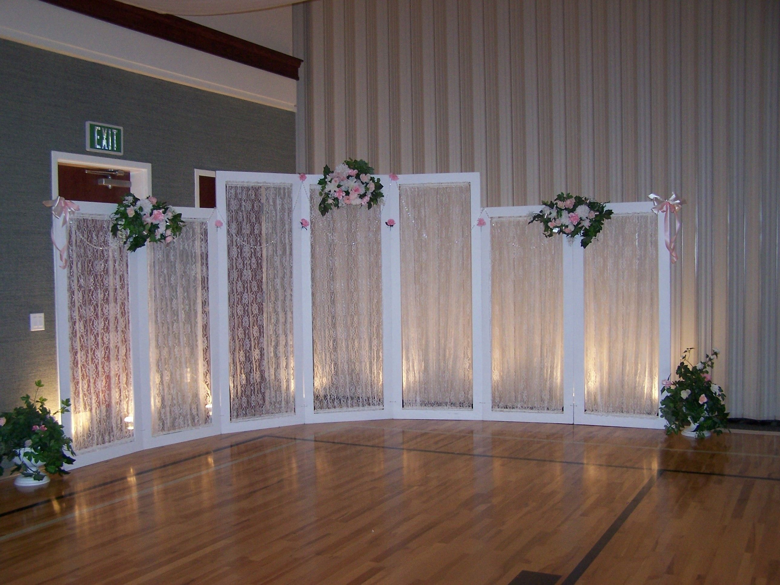 how to decorate a gym for a wedding reception Google