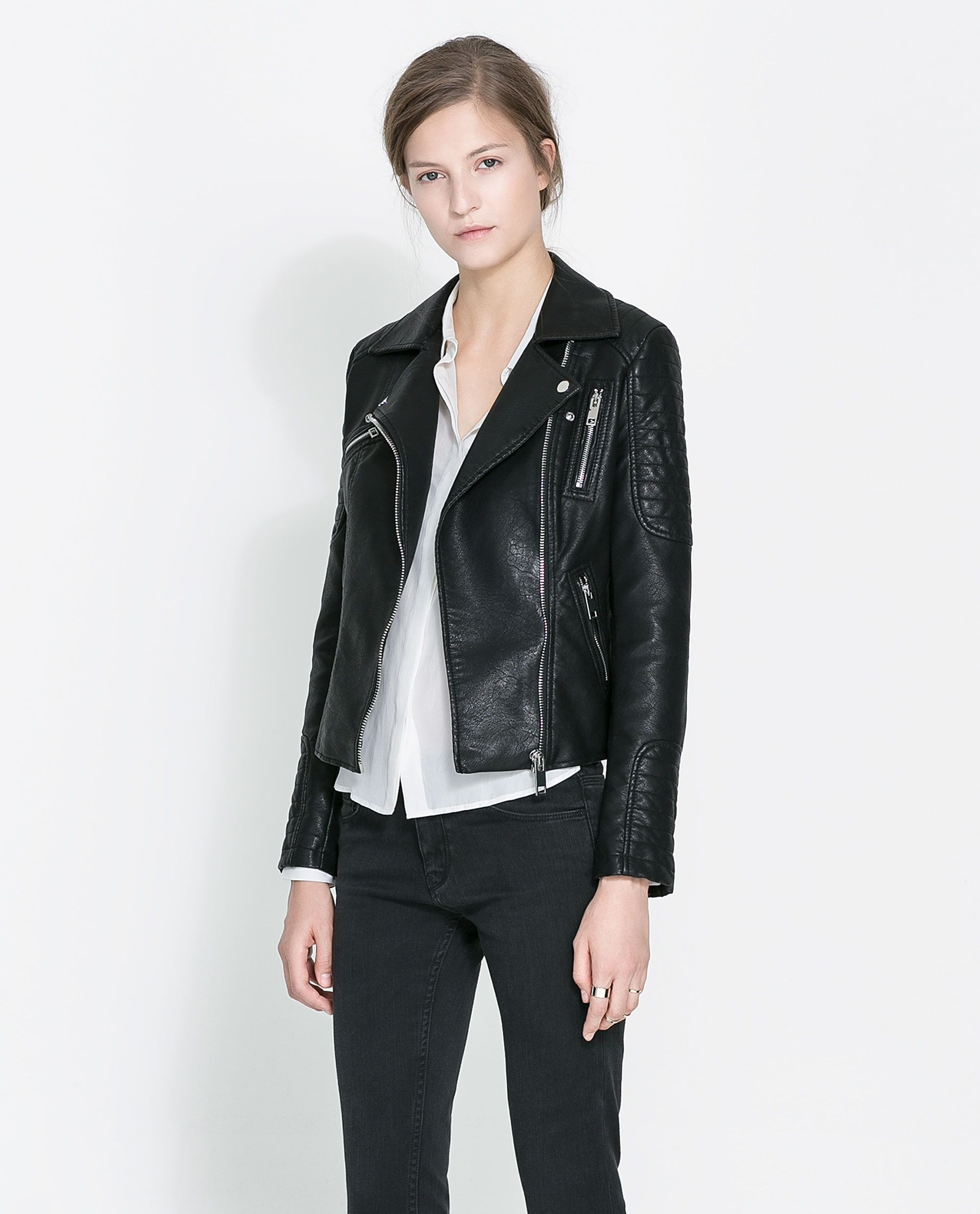 ZARA WOMAN MOTORCYCLE JACKET WITH ZIPS So Fresh and