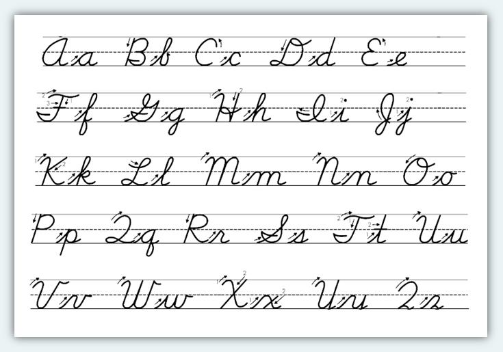 Cursive Handwriting Template. cursive handwriting worksheets ...