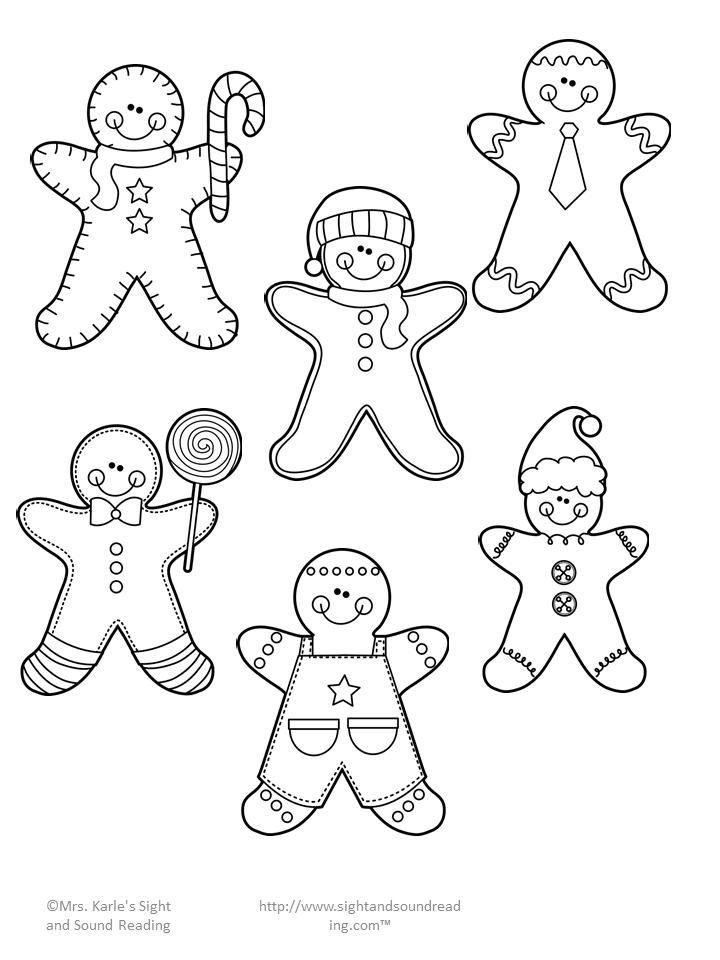 Gingerbread Man Cutout Activity Gingerbread man