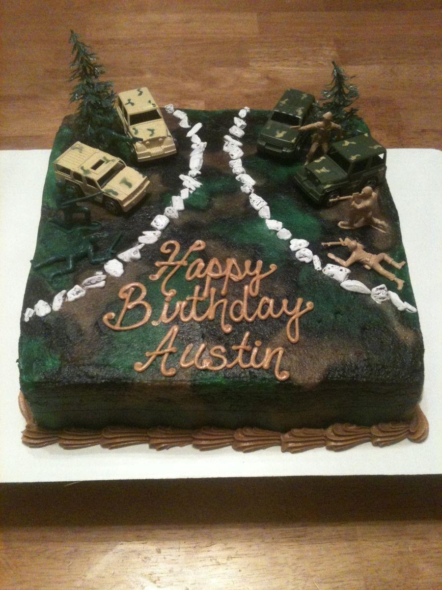 Army Cake on Cake Central Army Guy Birthday Pinterest