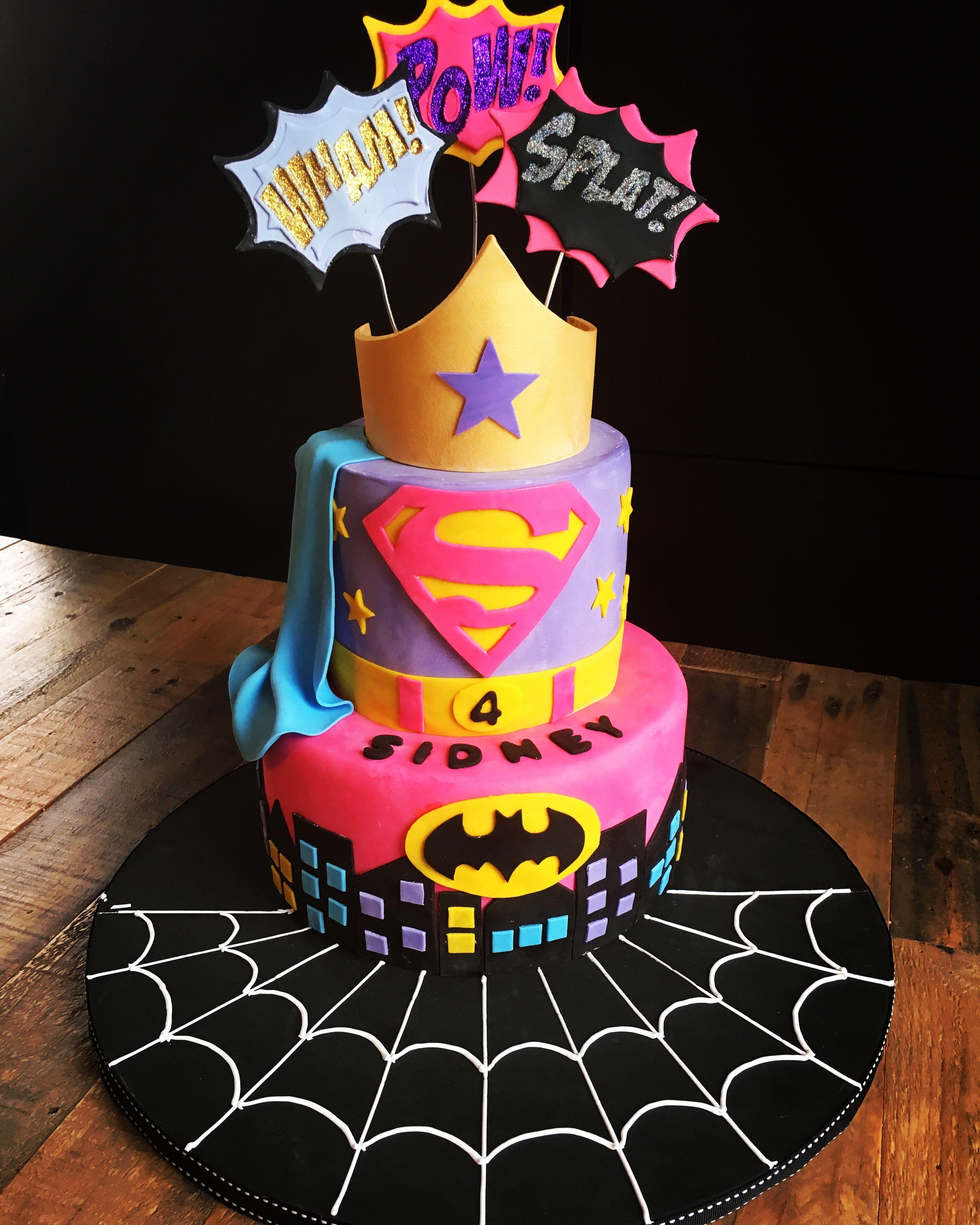 Super Hero Cake For Girls For More Ideas Follow