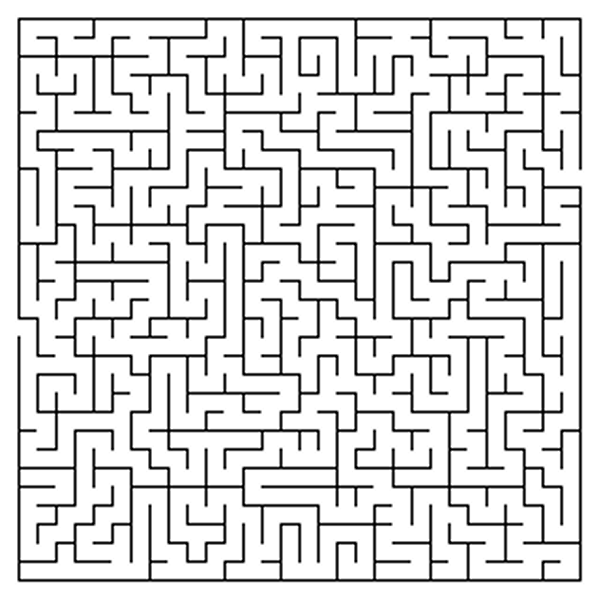 Difficult Maze Coloring Pages