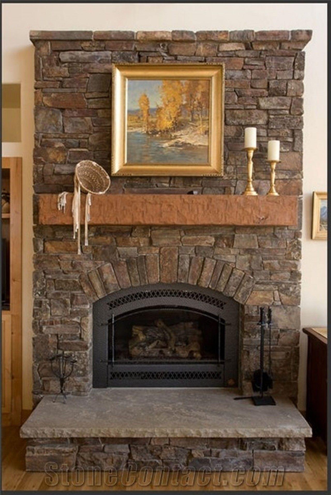 Archaic Paint Stone Fireplace Architecture Fair Stone