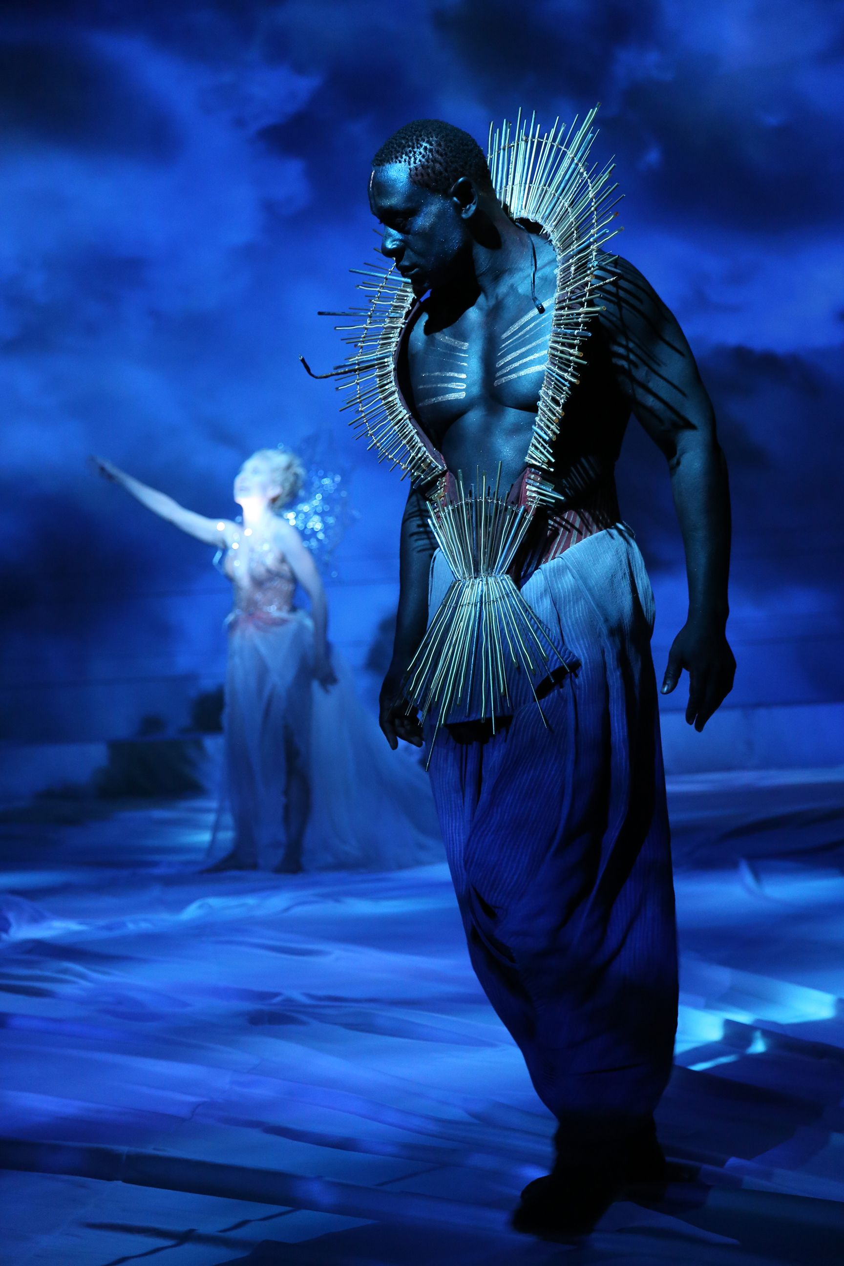 Tina Benko As Titania And David Harewood As Oberon In A