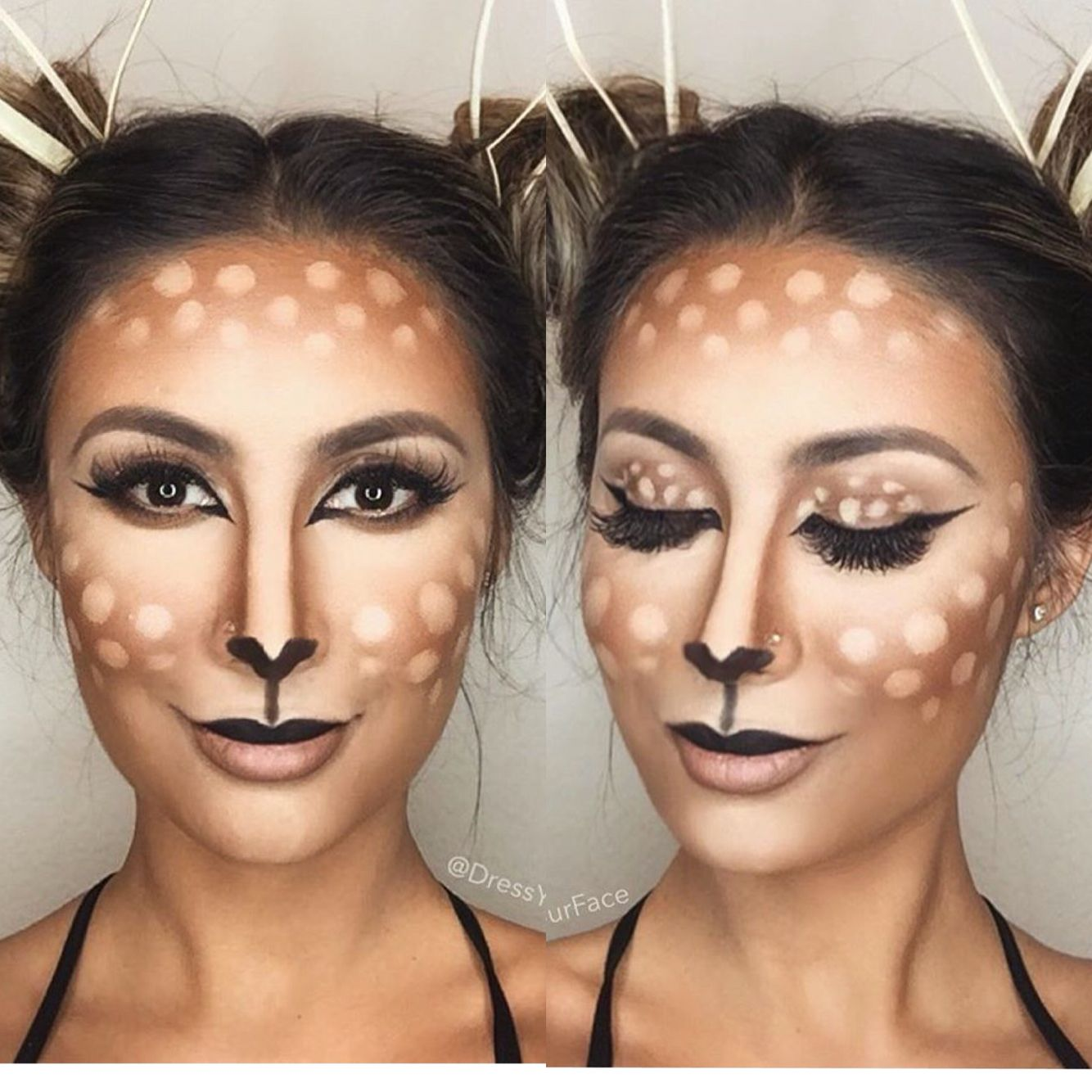 Easy deer makeup … Pinteres…