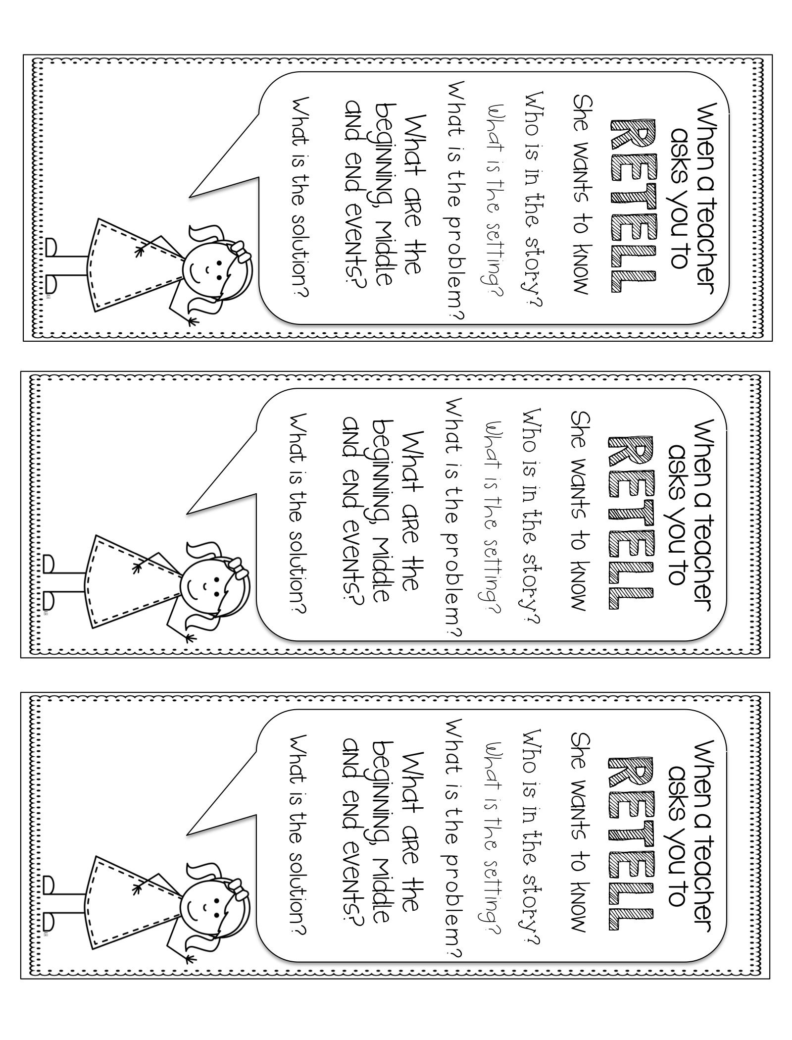 Retell Me A Story Common Core Aligned Reading Resource K 3