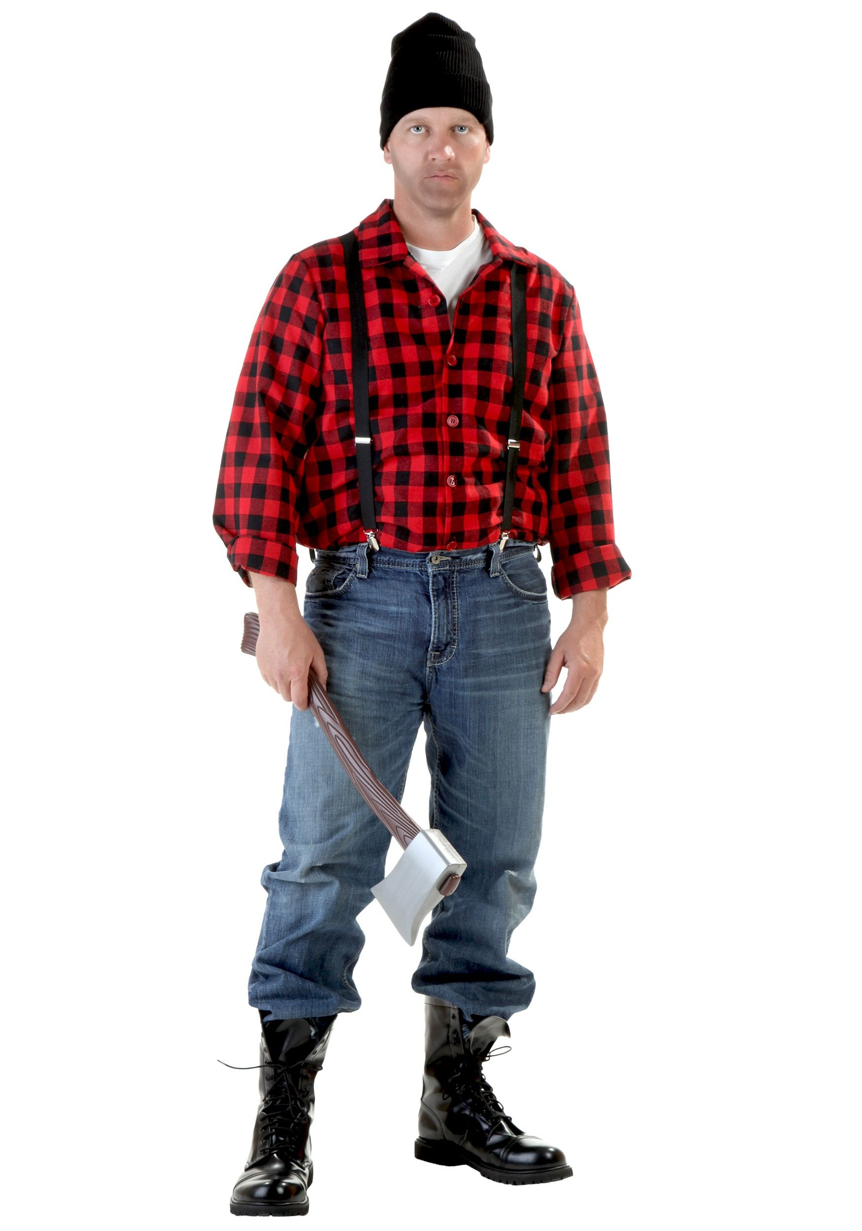 a brawny lumberjack in this exclusive costume for