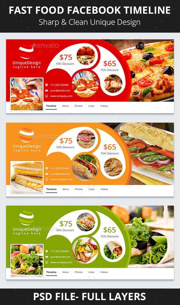 Fast Food Facebook Timeline Timeline, Timeline covers
