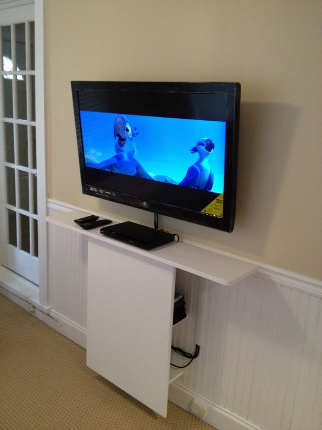 Could I Somehow Modify This For Our Tv Ikea Hackers Leksvik Floating Stand