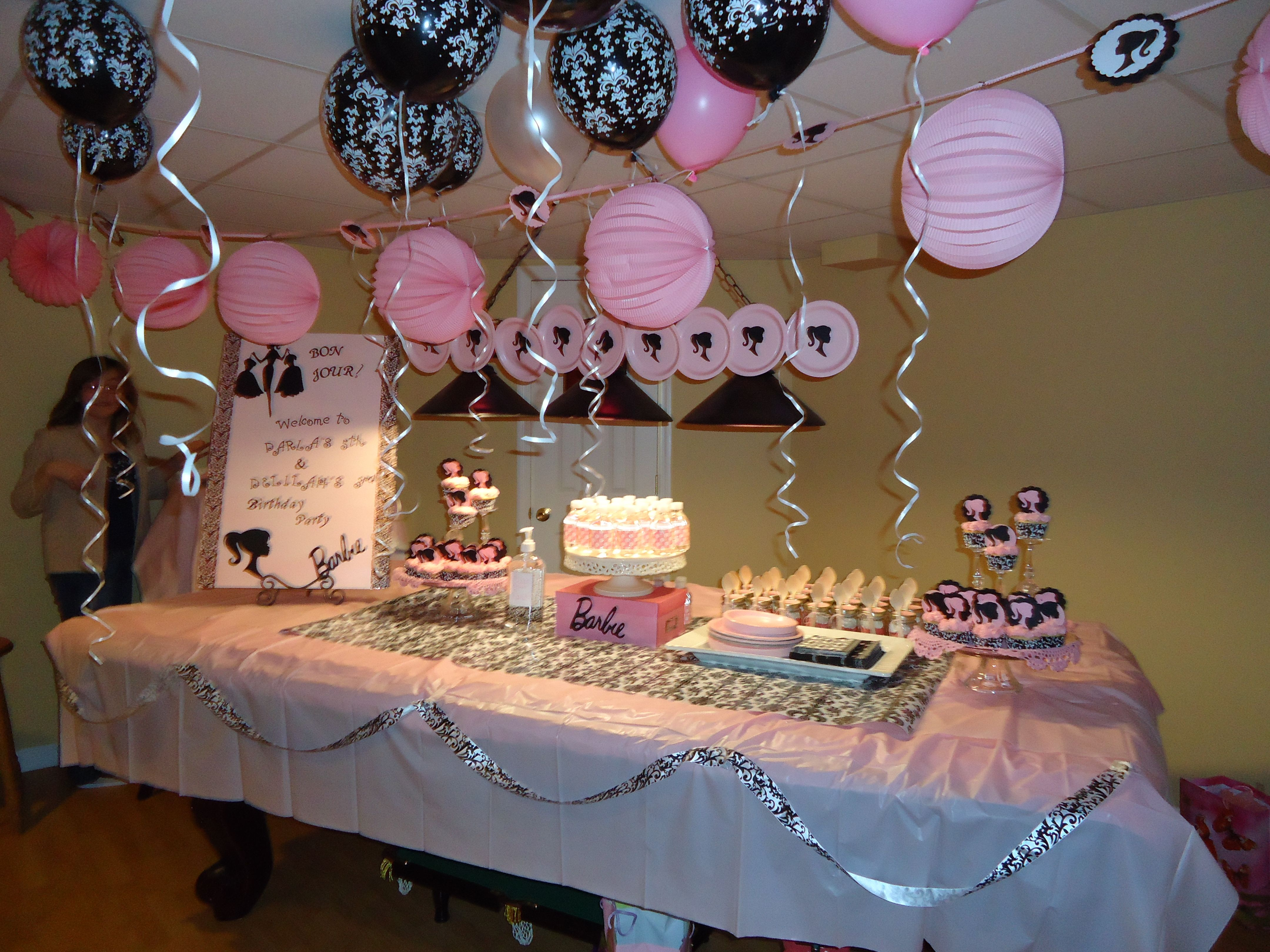 Barbie: Pink & Black Theme Girls Birthday Party
