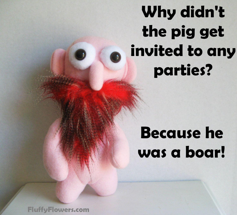 cute & clean math pig joke for children featuring an