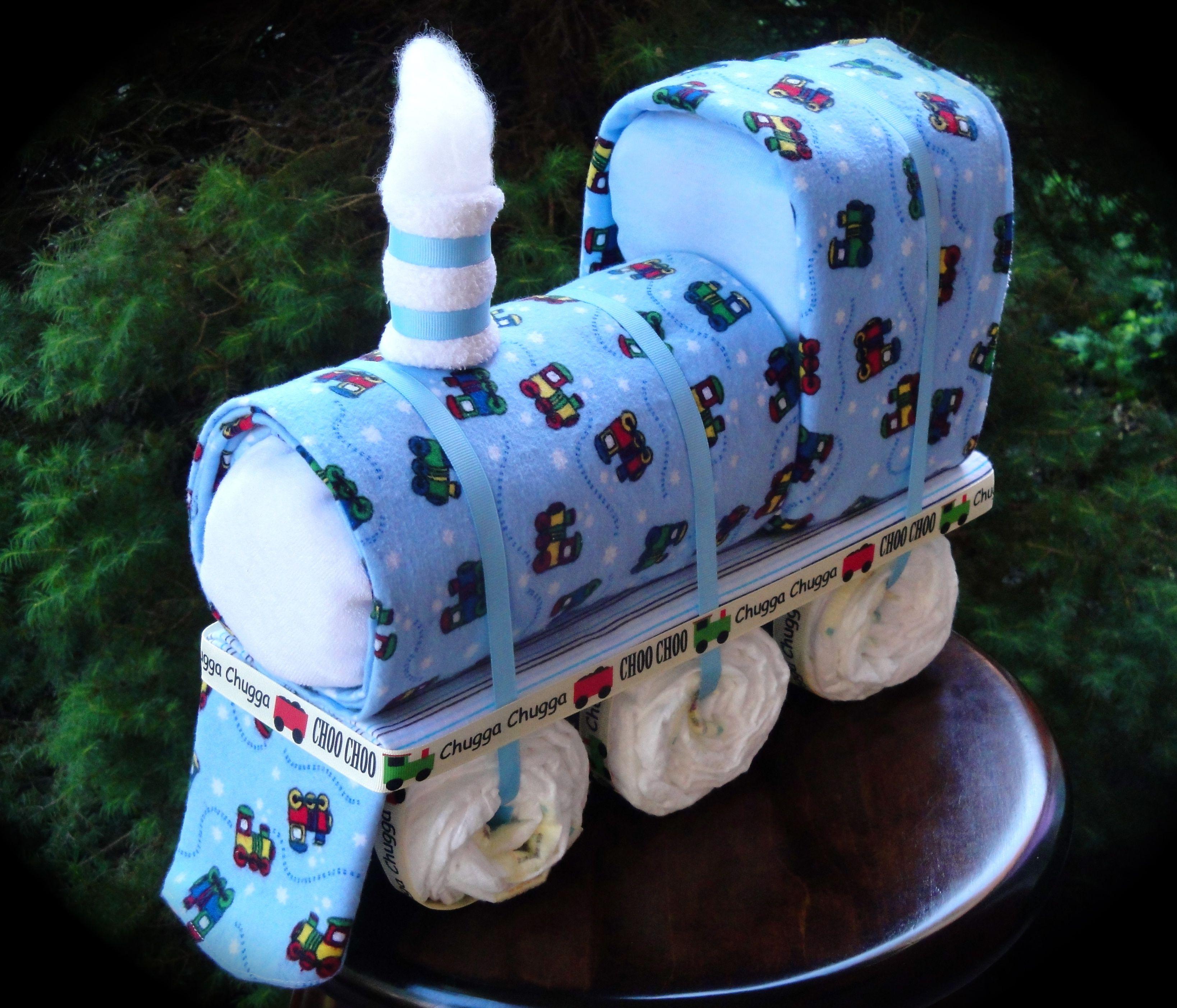 Train Themed Diaper Cake Facebook